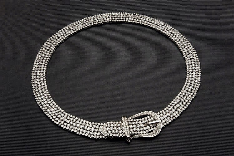 Gold diamond necklace 41,02 cts
