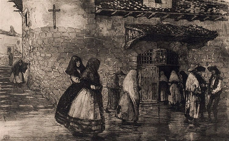 Ricardo Baroja. Entering the Church