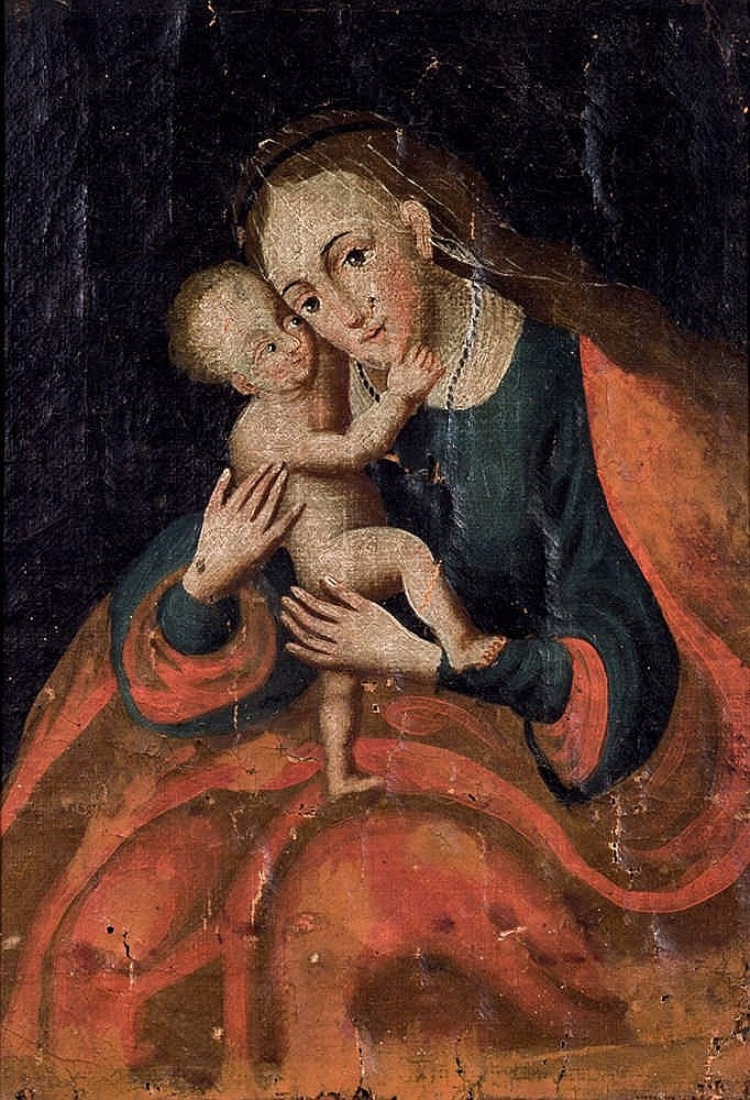 Escuela Español Antigua. Virgin with Child