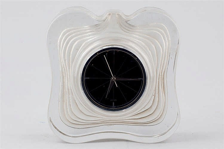A Daum glass mantel clock