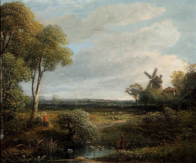 19th C. French School. Landscape