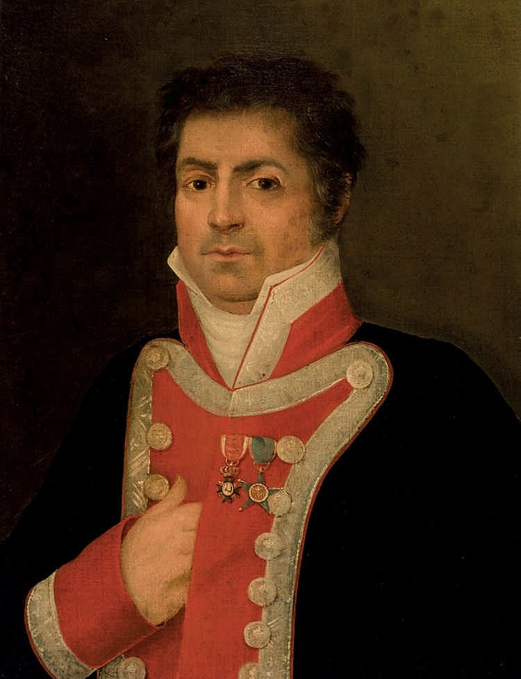 Spanish School, 19th C. Portrait of an Officer