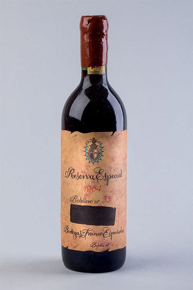 30 bottles B. Franco Españolas R. E. 1964