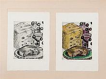 Frederico Vigil. Bread, cheese, grapes and wine