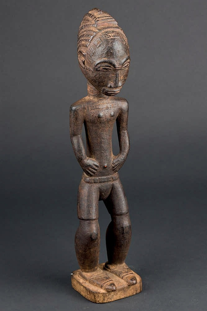 A Baule Colon Figure, c. 1950-60. Ivory Coast