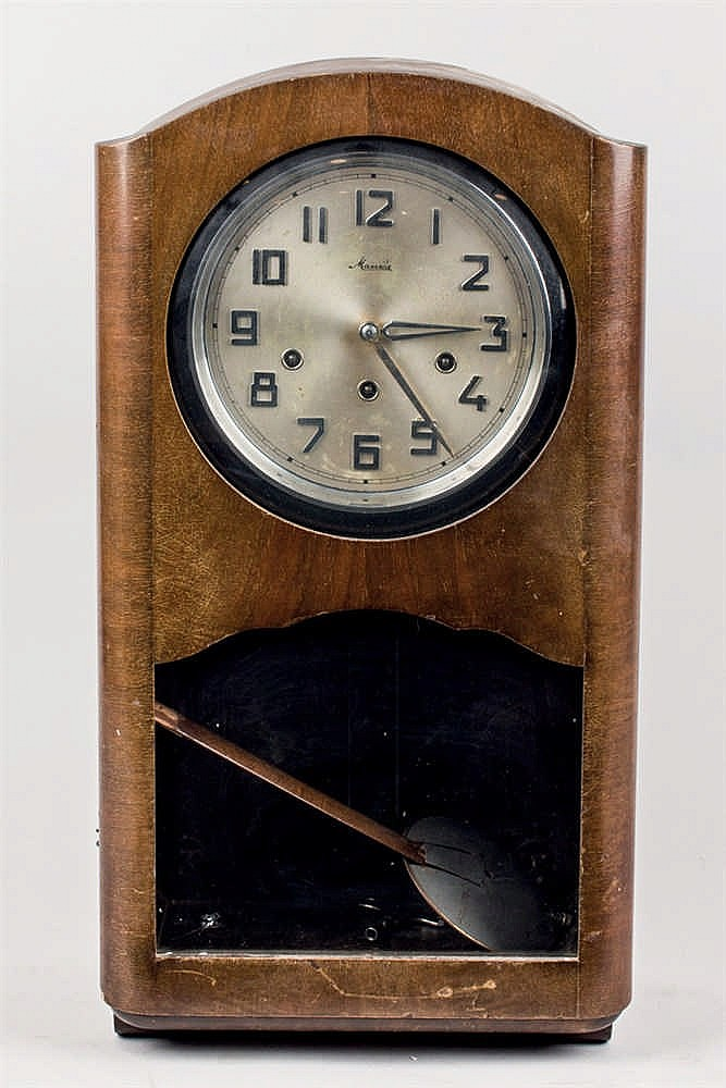 German wall clock. Mauthe