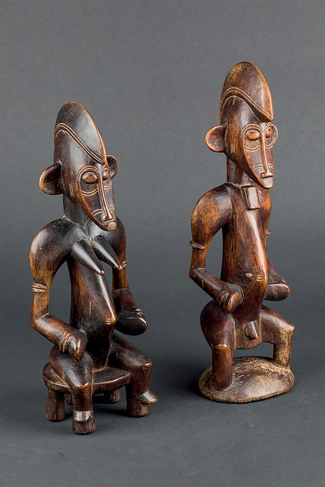 A Senufo Couple, c. 1950. Ivory Coast