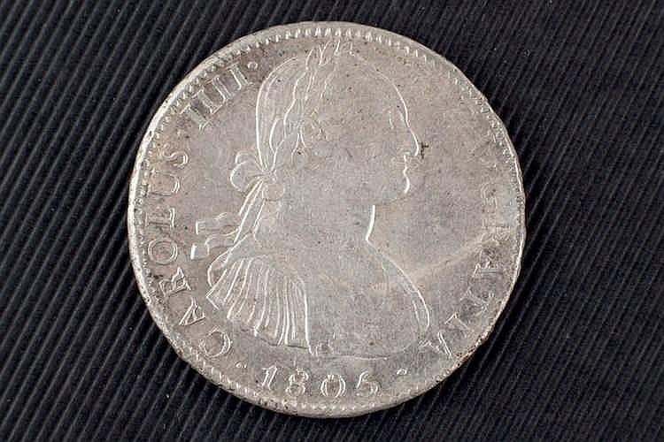 8 reales. Carlos IV. 1805. Méjico