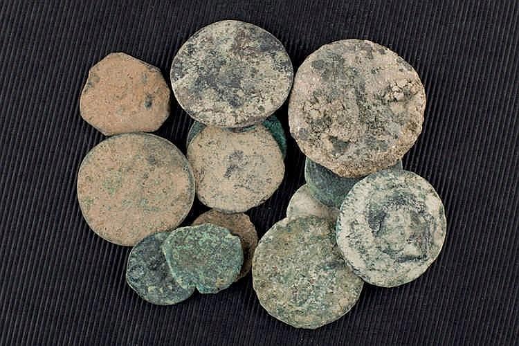 Set of 81 roman an iberian coins