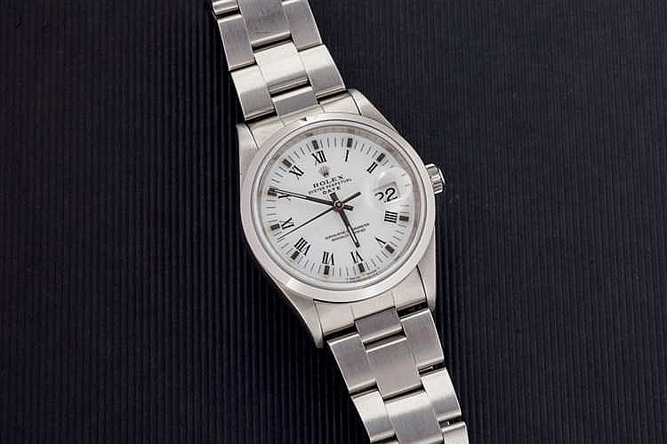 Rolex Oyster Perpetual Date mens stainless steel