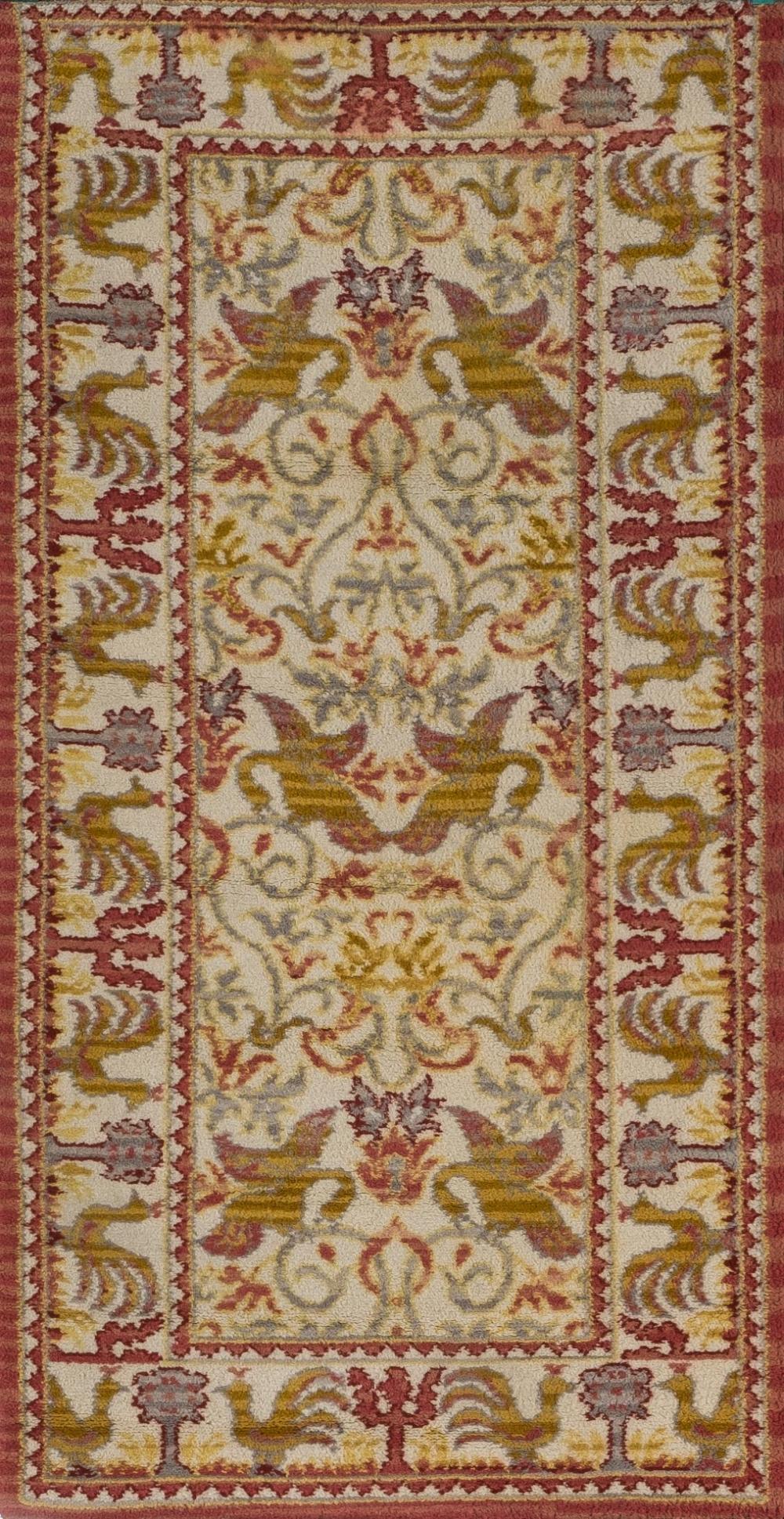 A Spanish wool carpet. 20th C