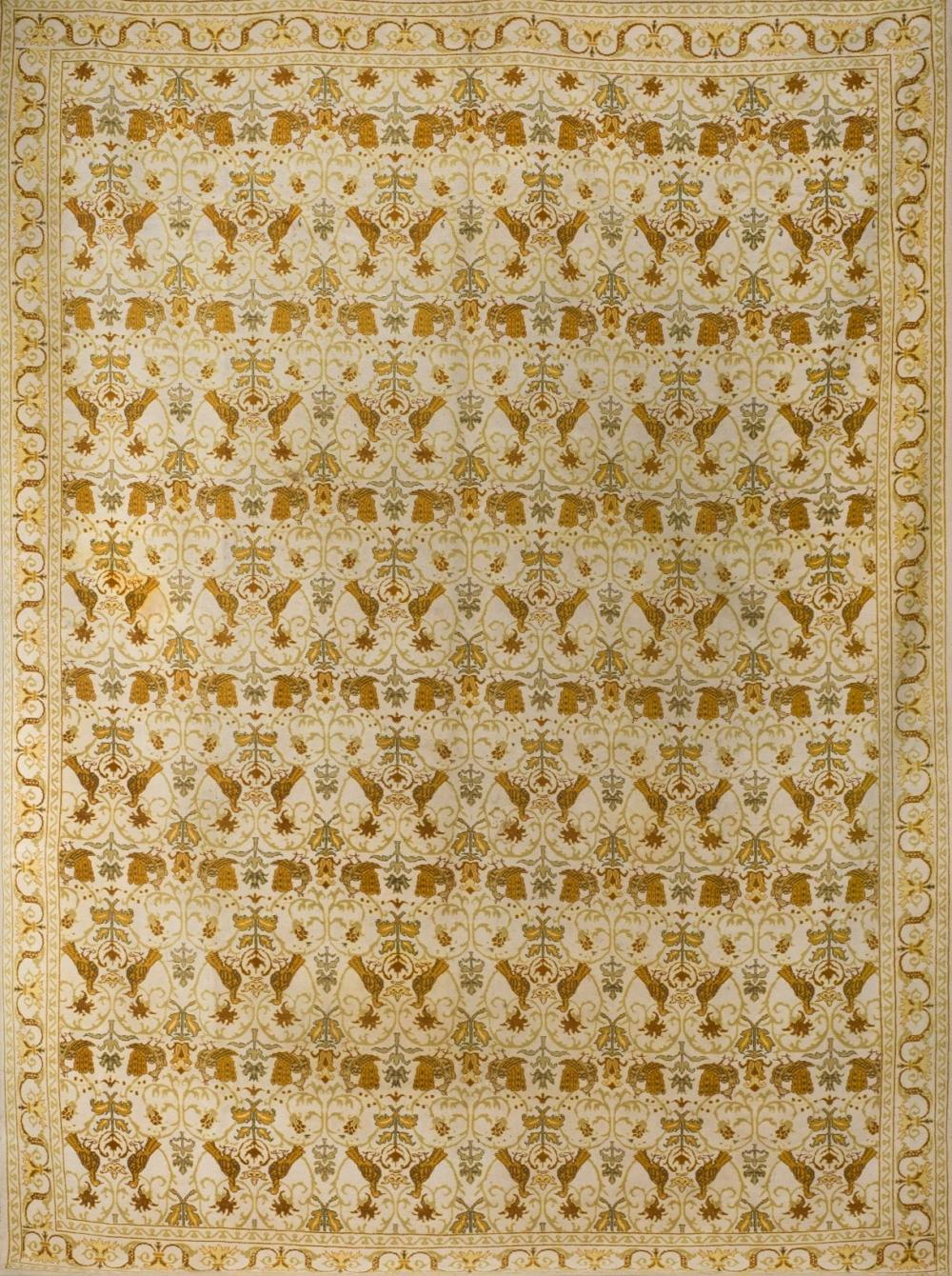 A wool carpet whit birds. 20th Century