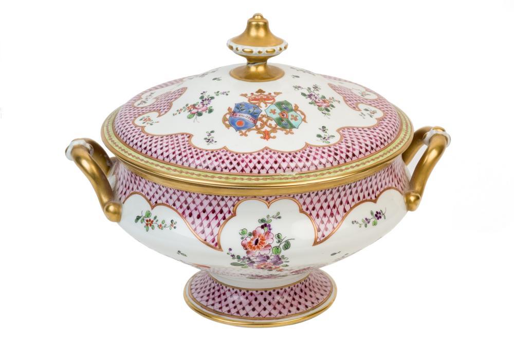 An European porcelain tureen. 20th Century