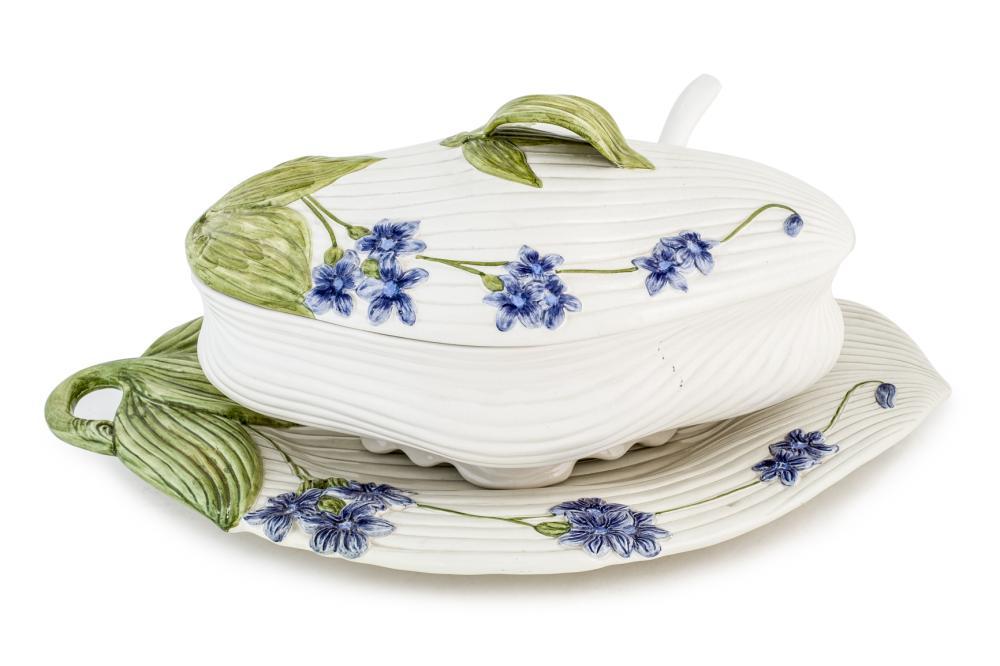 An Italian ceramic tureen by Zeta Bassano 20th C