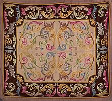 An Spanish wool rug. C. 1940