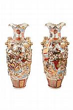 A pair of Japanese Satsuma  vases. 19th.C-20th.C