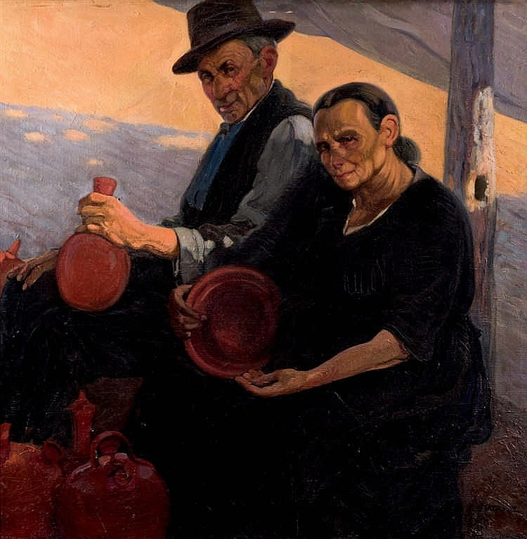 Lorenzo Aguirre Sánchez. Couple of potters