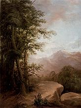 Attributed to David Young Cameron. Landscape