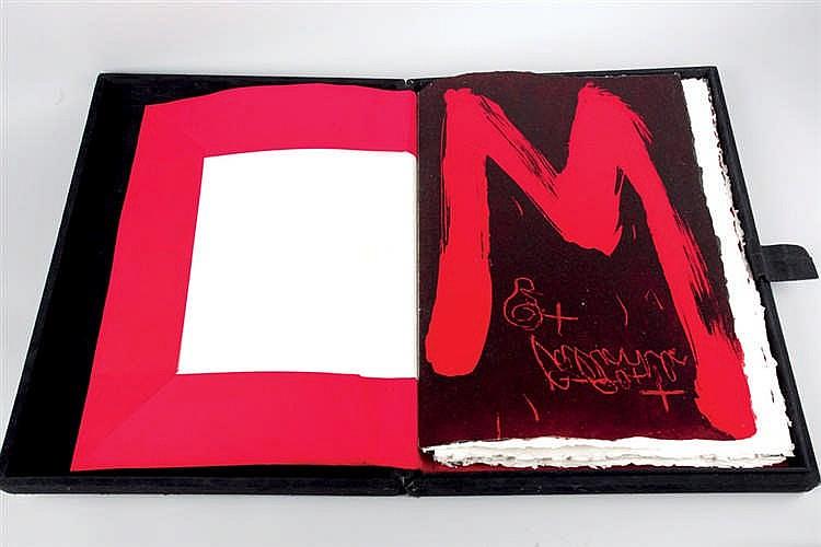 """TÀPIES, ANTONI (1923 - 2012). """"CARRER DE WAGNER"""" Texto de Joan Brossa"""