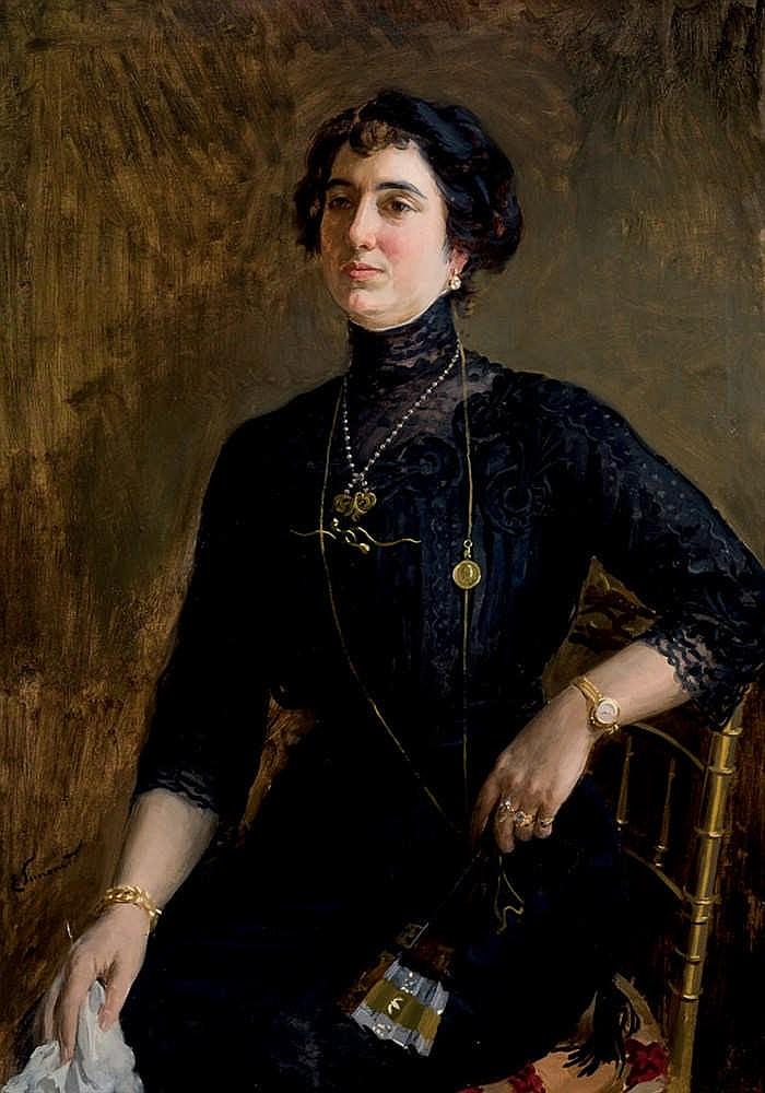 Enrique Simonet Lombardo.Wife artist