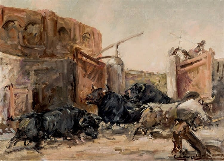 Angel Gonzalez Marcos. Running of bulls