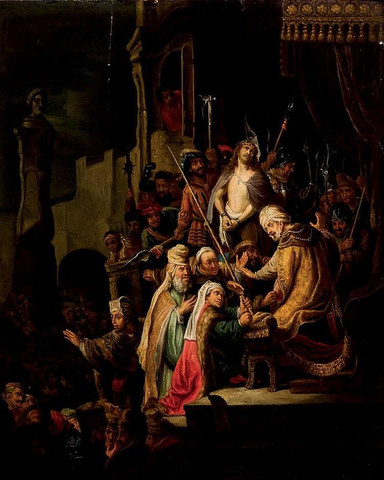Lucas van Leyden. Christ by Pilate