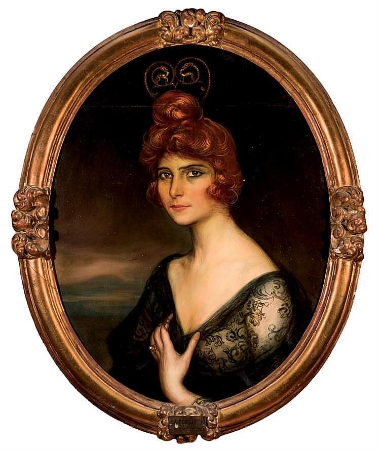 Julio Romero de Torres. Portrait of Ana Díaz