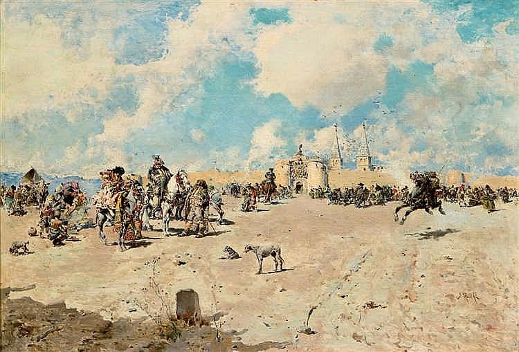 Baldomero Galofre. Horsemen