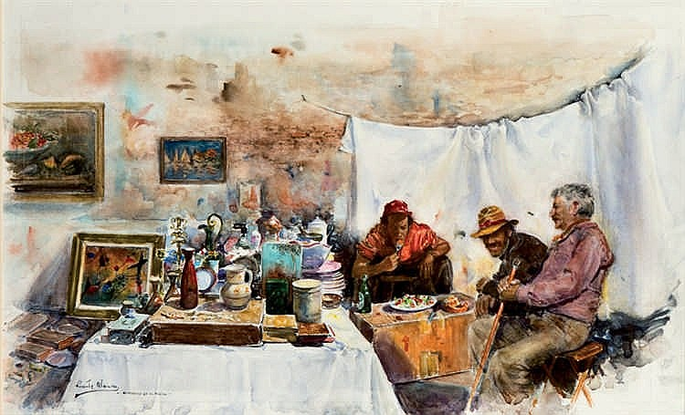 Vicente Alonso. Breakfast at el Rastro