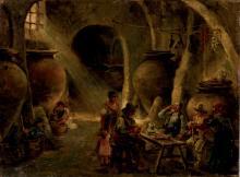 Eugenio Oliva. Tavern scene