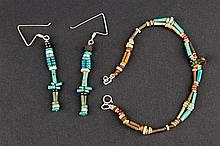 Egyptian Earrings and Bracelet, Late Period