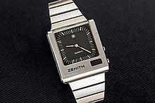 Zenith mens steel watch