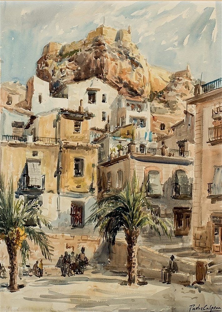 VIcente Pastor Calpena. Square of a village