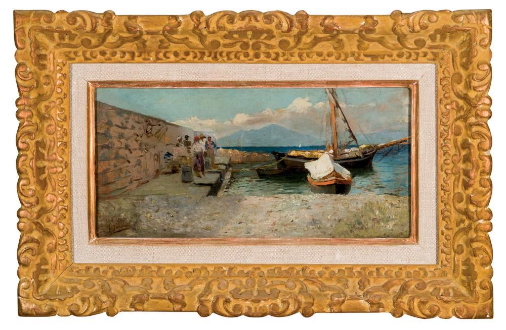 Joaquín Sorolla. Naples port (1886)