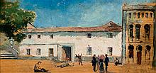 Spanish Sch, 19-20th C. View of a Mental Hospital