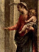 Spanish School, 19th C. Madonna and Child