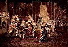 European School, 19th-20th C. Interior Scene