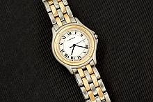 Cartier Cougar mens steel and gold watch