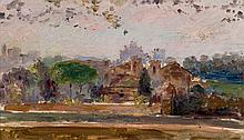 Spanish School, 19th-20th C. View of a Village