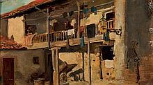 Spanish School, 19th-20th C. Balcony
