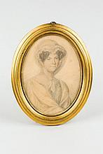 European School, 19th C. Portrait of a Lady