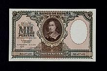 Bill of 1000 pesetas.January. 1940