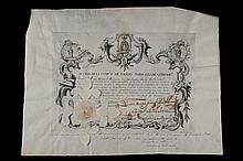 Share document of 3000 reales de vellón.1748