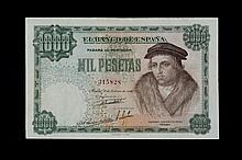 Bill of 1000 pesetas. 1946