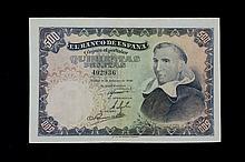 Bill of 500 pesetas. February 1946