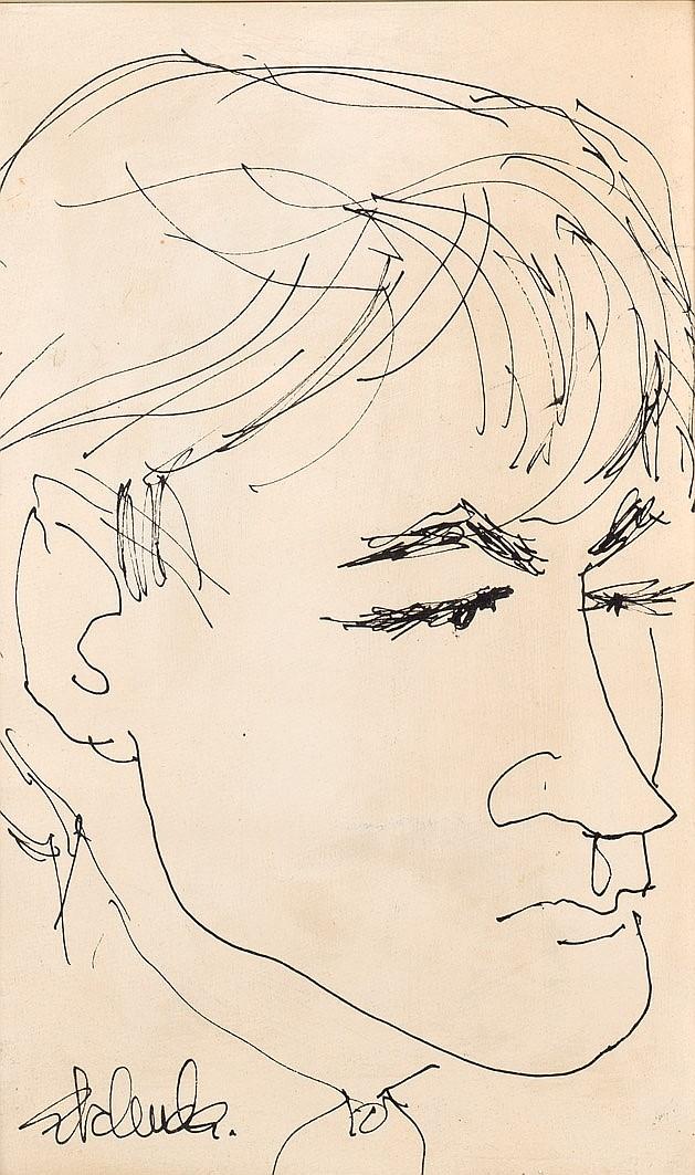Alfonso Abelenda Escudero. Young face