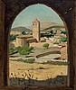 Enrique Segura. Village wiew with church, Enrique Segura Iglesias, €500