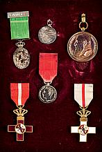 Set of decorations and conmemorative medals