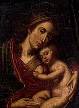 Spanish School 19-20th C. Nursing Madonna