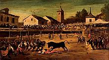 Spanish School 19th C. Bullfighting